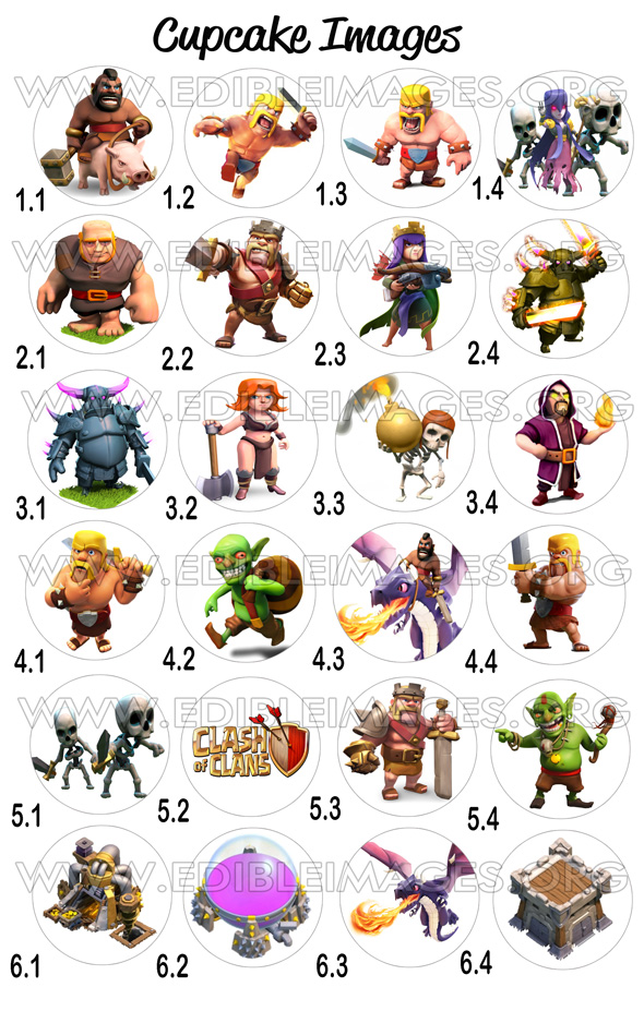 Edible Image Clash Of Clans
