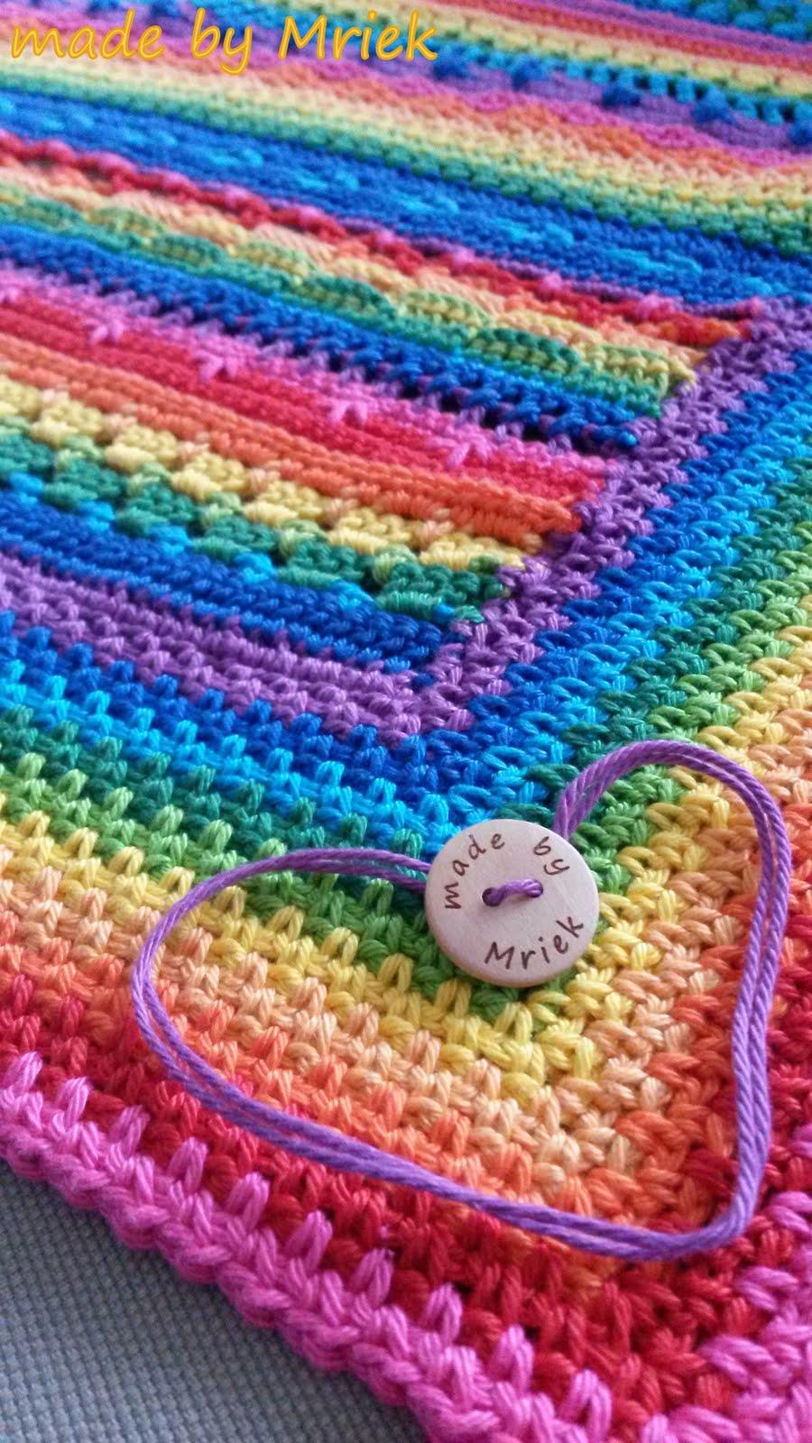 Regenboog Babydeken