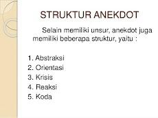 Anekdot: Struktur Teks Anekdot