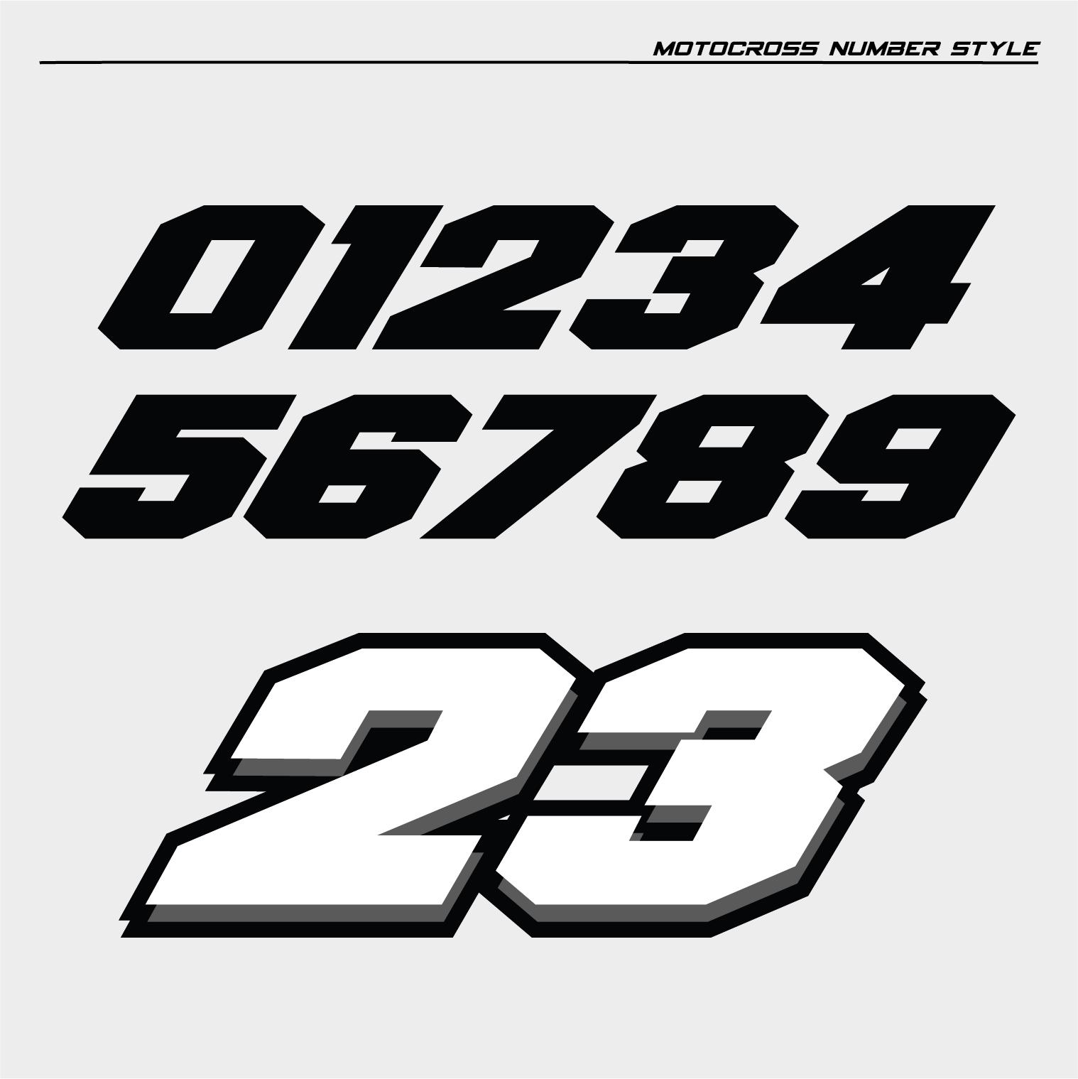 motocross number styles. Black Bedroom Furniture Sets. Home Design Ideas