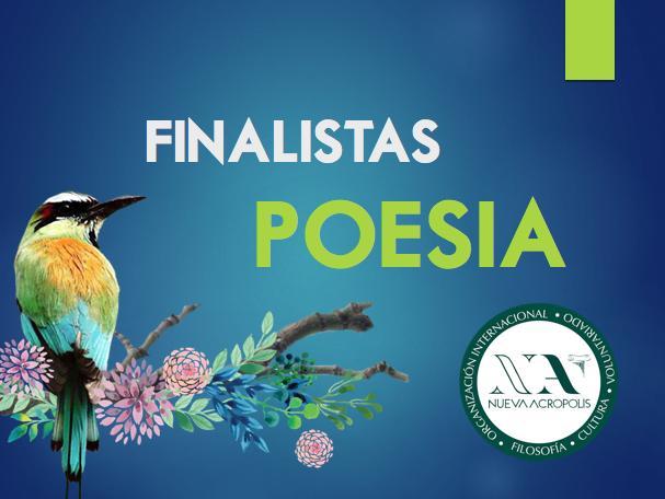 Finalistas Poesía Certamen de Literatura Nueva Acrópolis Santa Ana, El Salvador