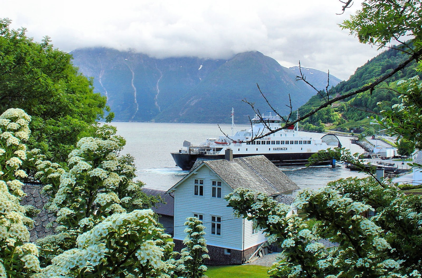 Another view of the Hardangerfjord ferry departing for distant shores.
