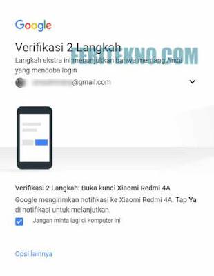 cara membuat ketika login akun gmail membutuhkan kode unik di hp untuk verifikasi