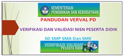 Panduan Verval PD Verifikasi Dan Validasi NISN Peserta Didik