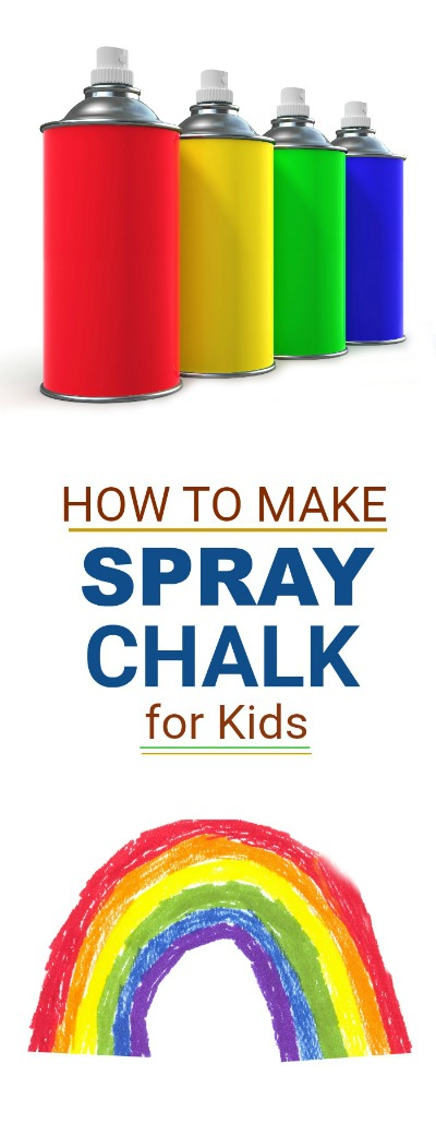 FUN KID PROJECT FOR SUMMER- make spray chalk!  (only 3 ingredients!)