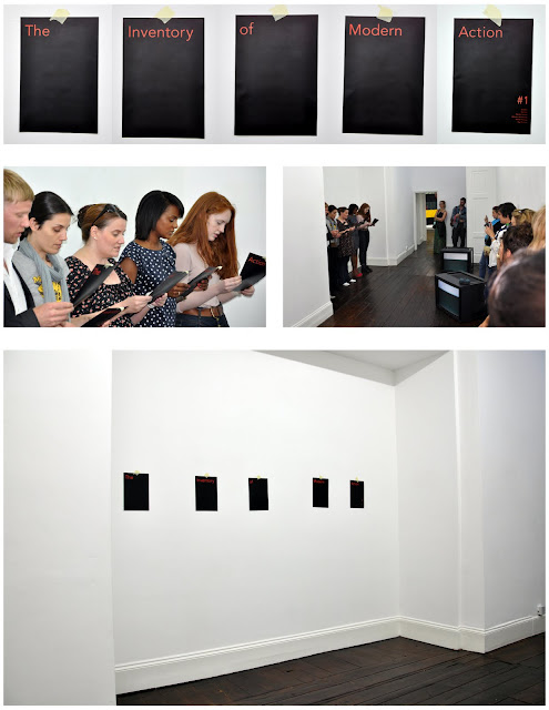 'The Inventory of Modern Action # 1', Gallery Vela, 2011. Dimensions Variable.