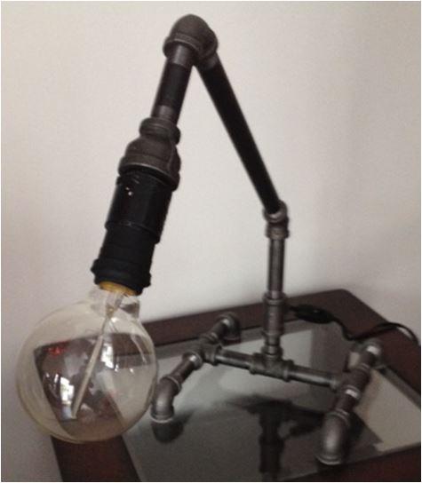 vintage vancouver: Industrial Steel Pipe Lamp
