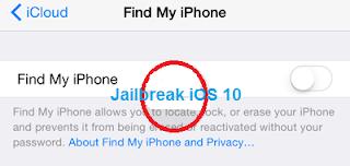 Find my phone iOS 10