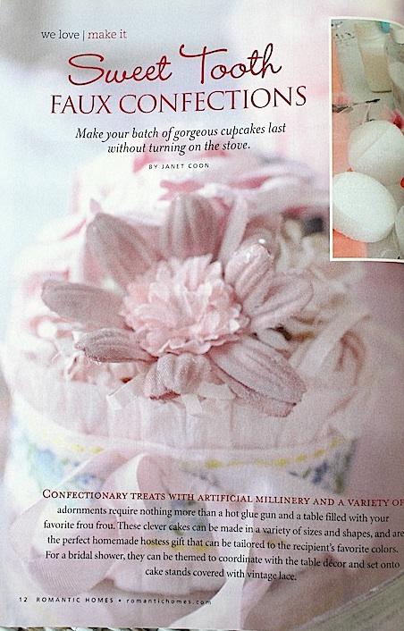 romantic homes magazine cake diy