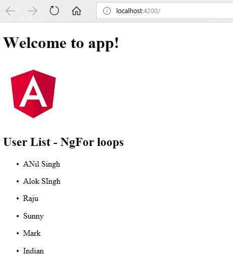 Angular 5 and 4 NgForOf and ngFor loops with Example - Angular 8, 7 ...