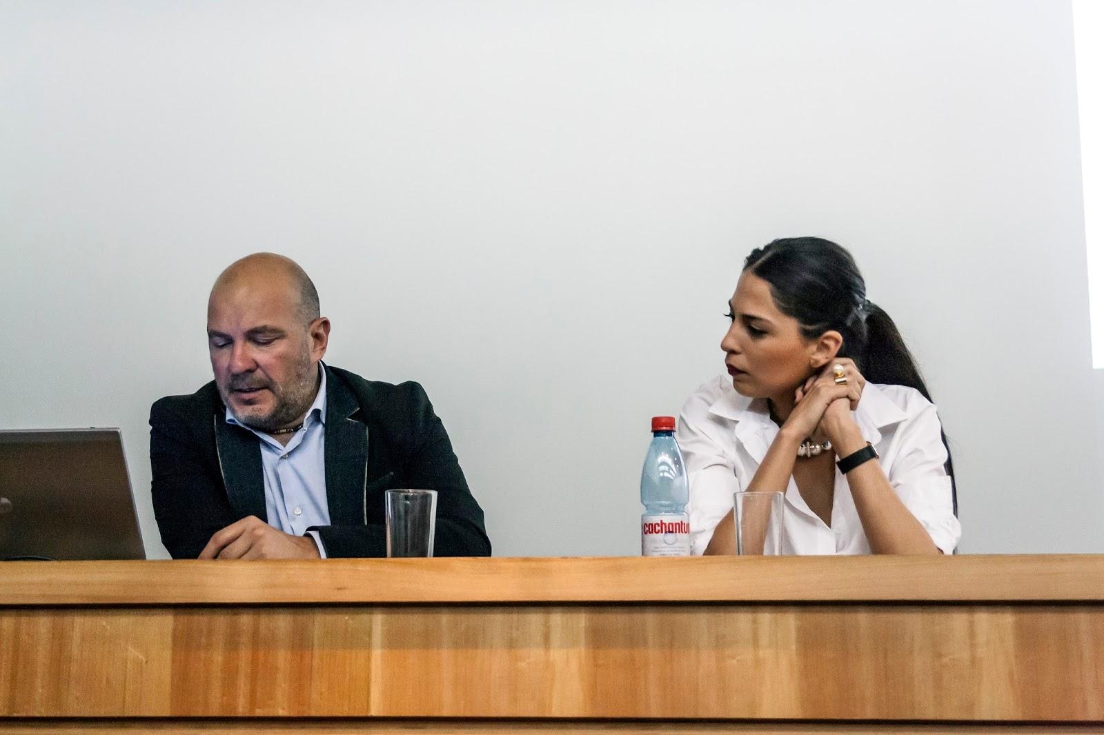 Marco Montemaggi y Pamela Victoria, Charla tendencias, marcas y moda