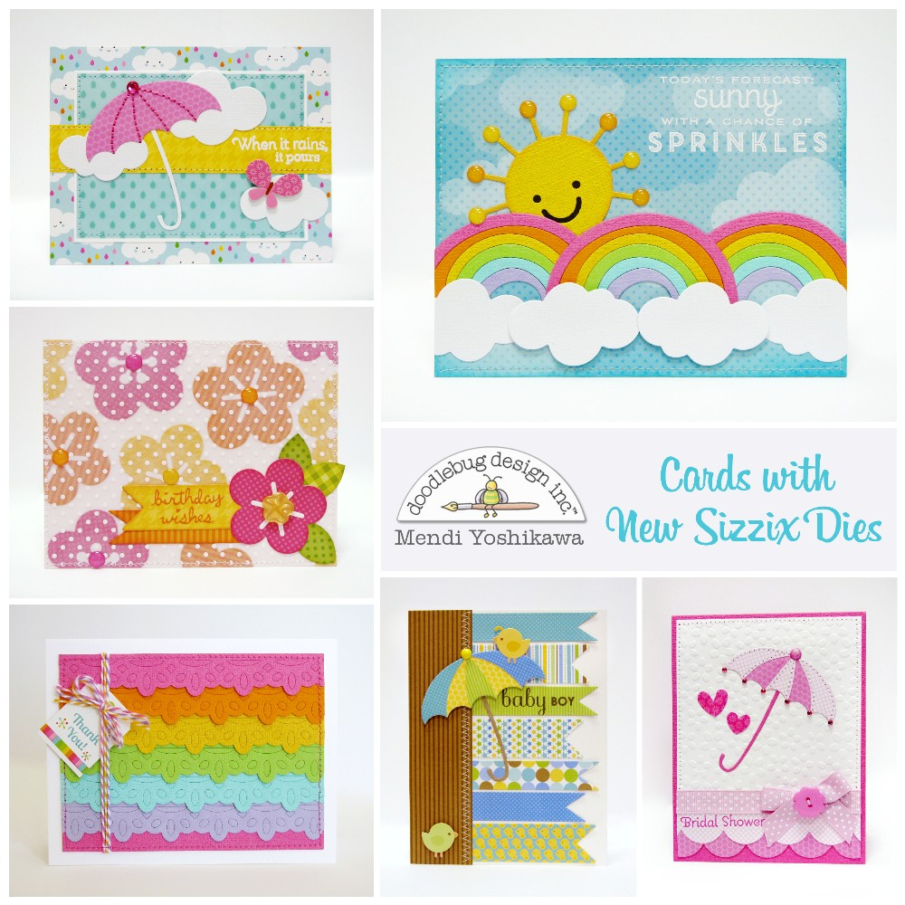Doodlebug Design Inc Blog: Cards with New Sizzix Dies by Mendi