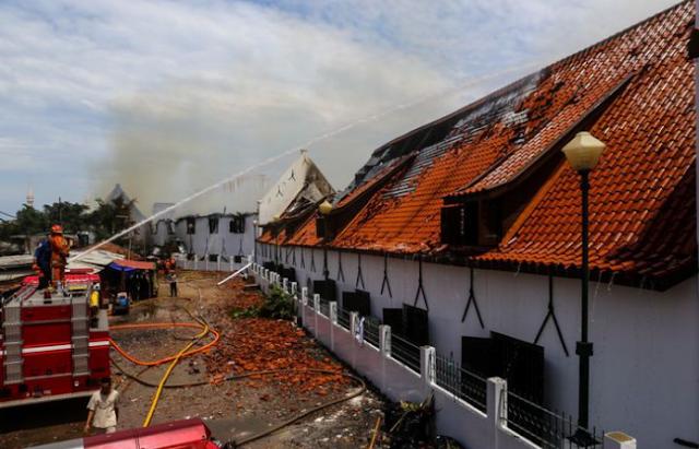 AGEN BOLA - Kebakaran Museum Bahari Diduga akibat Korsleting Listrik