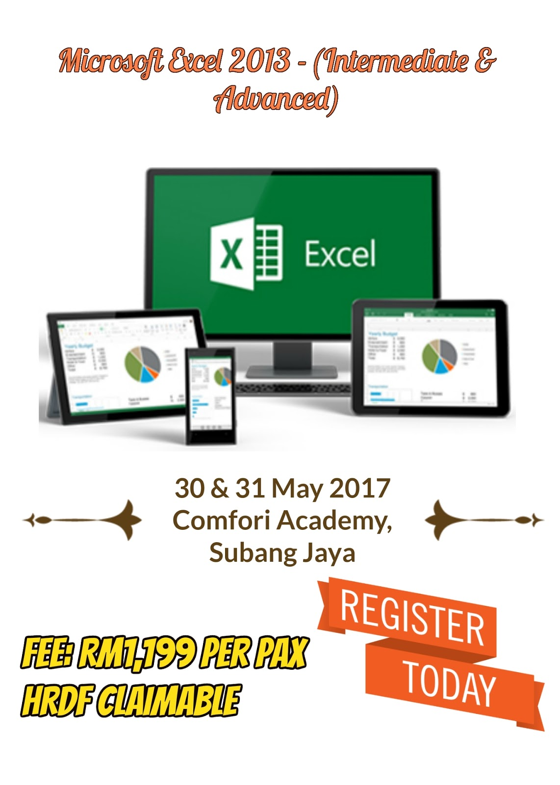 Excel Intermediate Amp Advanced Training On May