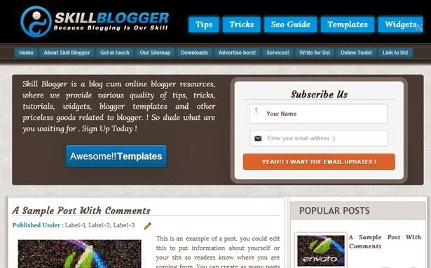 Top 5 Best SEO Blogger Templates 2016 (Skill Blogger Template)