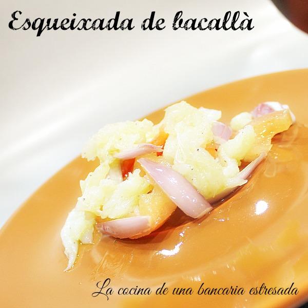 Receta de esqueixada de bacallà (bacalao)