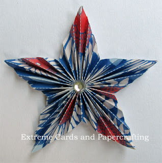 completed pleated star