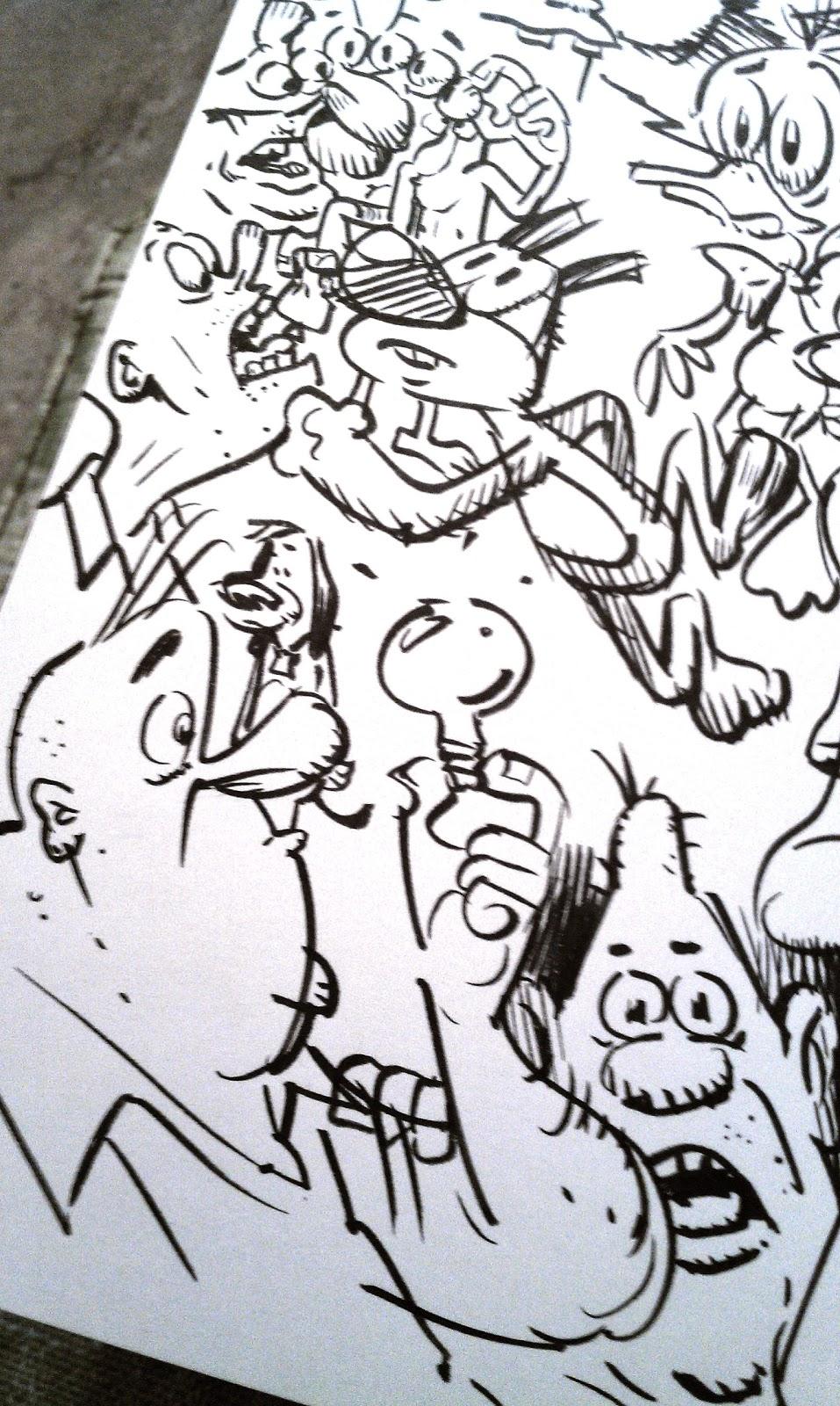 Cartoon Snap Brush Pen Doodle Fest