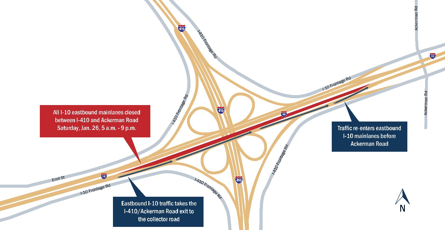 Go Ahead!: Major Mainlane Closures On I-10 In Far East San Antonio
