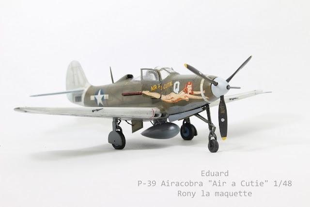 "Maquette du P-400 Airacobra ""Air A Cutie"" d'Eduard au 1/48."