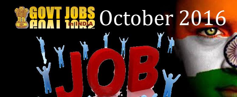Govt Jobs India 2016