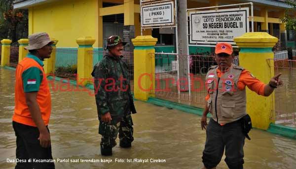 banjir rendam daerah patrol indramayu