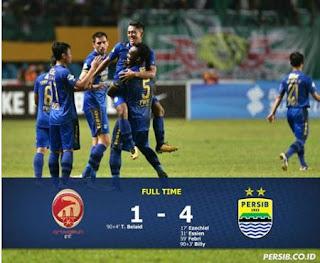 Sriwijaya FC vs Persib Bandung 1-4 plus Video Gol - Liga 1 Senin 4/9/2017.