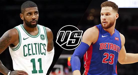Live Streaming List: Boston Celtics vs Detroit Pistons 2018-2019 NBA Season