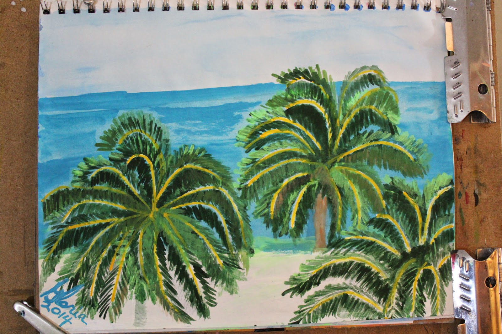 South Seas Island sketch by Gloria Poole / Gloria / gloriapoole of Missouri; 30 April 2014