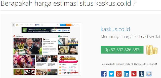 Harga Website Kaskus.CO.ID
