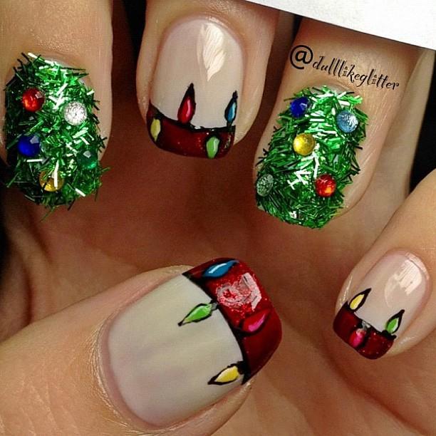 Christmas Tree Nails Design: Saving The World One Nail At A Time: Christmas Tree Nail