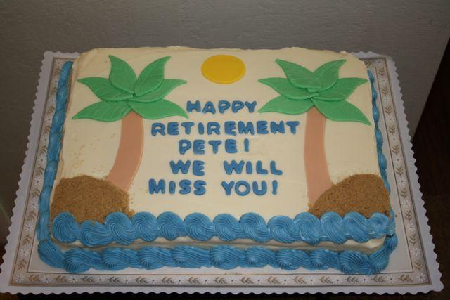 Jacqueline S Sweet Shop Happy Retirement Cake