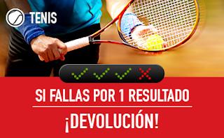 sportium Tenis: Combinada 'con seguro' hasta 6 mayo