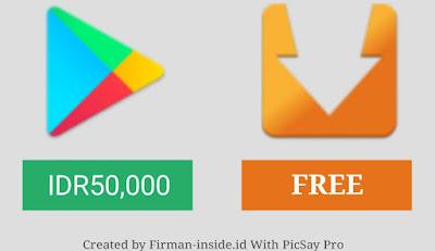 Trik Install Aplikasi Berbayar di Play Store Menjadi Gratis