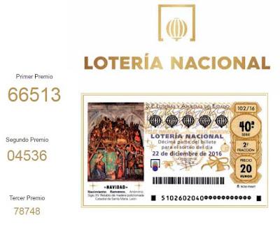 tres primeros premios loteria navidad 2016
