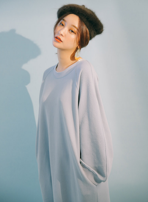 Midi Sweatshirt Dress