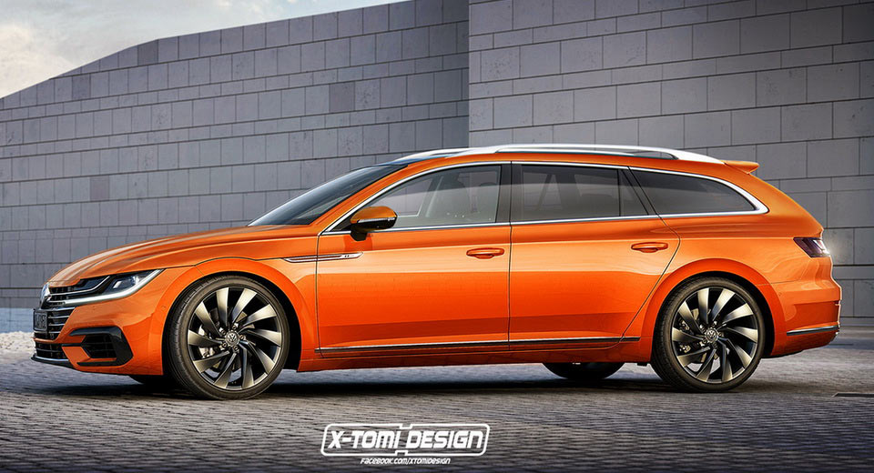 new vw arteon might actually get a stylish wagon version. Black Bedroom Furniture Sets. Home Design Ideas