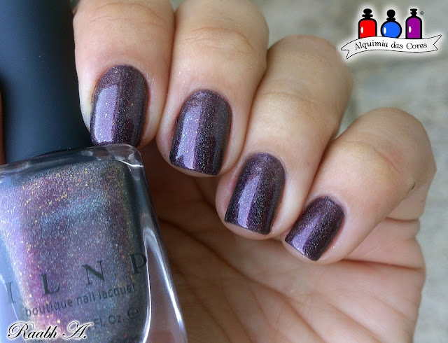Nails, Indie Polish, ILNP Chocolate Slate, ILNP Fall 2016 Collection, Marrom, Esmalte Holográfico, Raabh A., BP-L015, Uñas, Nail Art, unhas carimbadas,