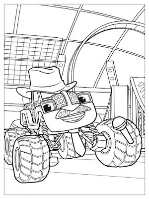 sketsa gambar blaze and the monster machines bump bumperman
