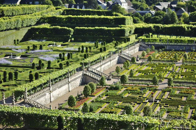 Chateau de Villandry  - pałacowy ogród warzywny