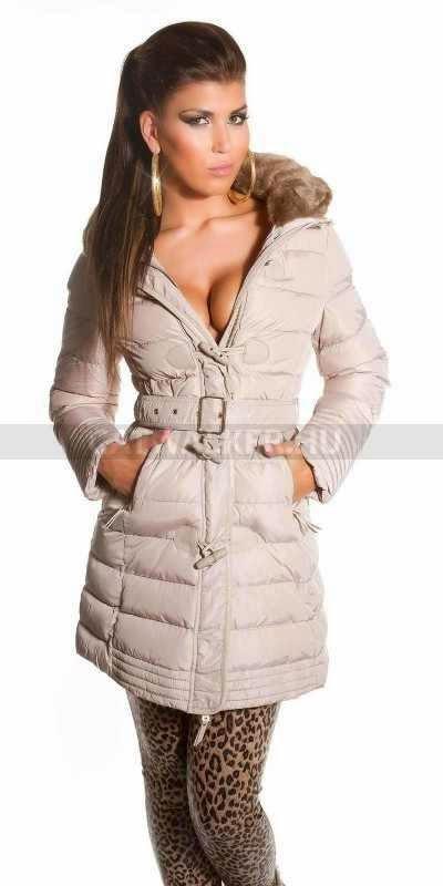 bbad8914d4 Női télikabát, nagyon trendi - bézs