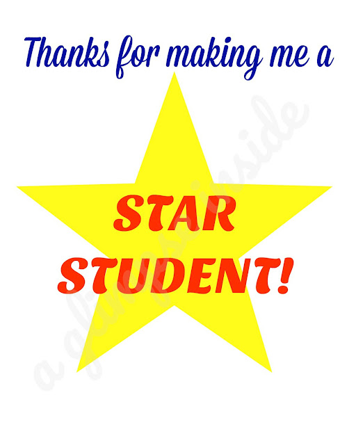 """Star Student"" Teacher Appreciation Gift and Printable Tag"