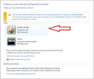 Cara Mengaktifkan Parental Control Di Windows  Cara Mengaktifkan Parental Control Di Windows 7