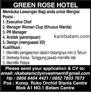 Lowongan Kerja Rika Batam City Investement