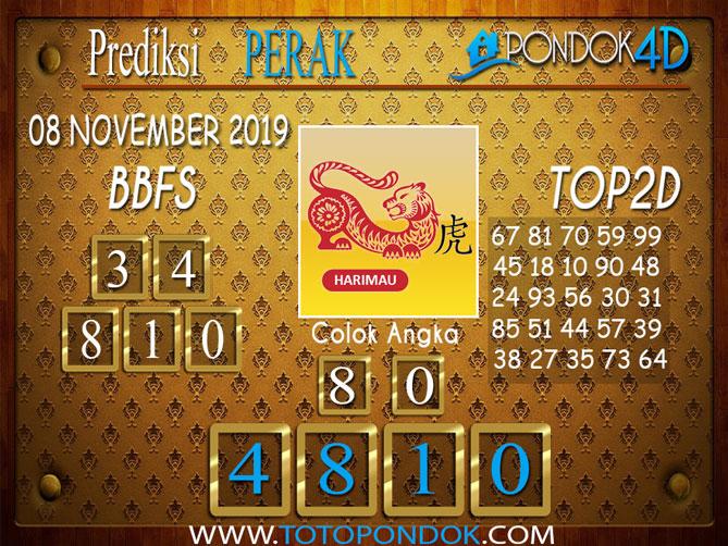 Prediksi Togel PERAK PONDOK4D 08 NOVEMBER 2019