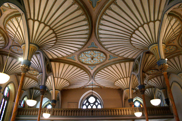 Glorious ceiling of the reconstructed Rideau Chapel