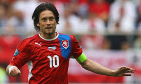 Tomas Rosicky in Czech colors