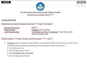 Soal Post Tes PKB Guru SD Kelas Atas Persiapan UKG