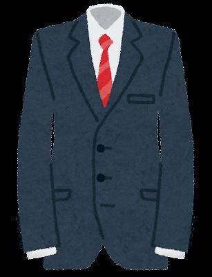 男性用スーツのイラスト