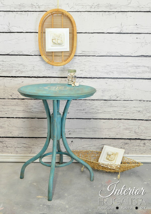 Bentwood Pedestal Cafe Table (The Makeover That Made Me Nauseous)